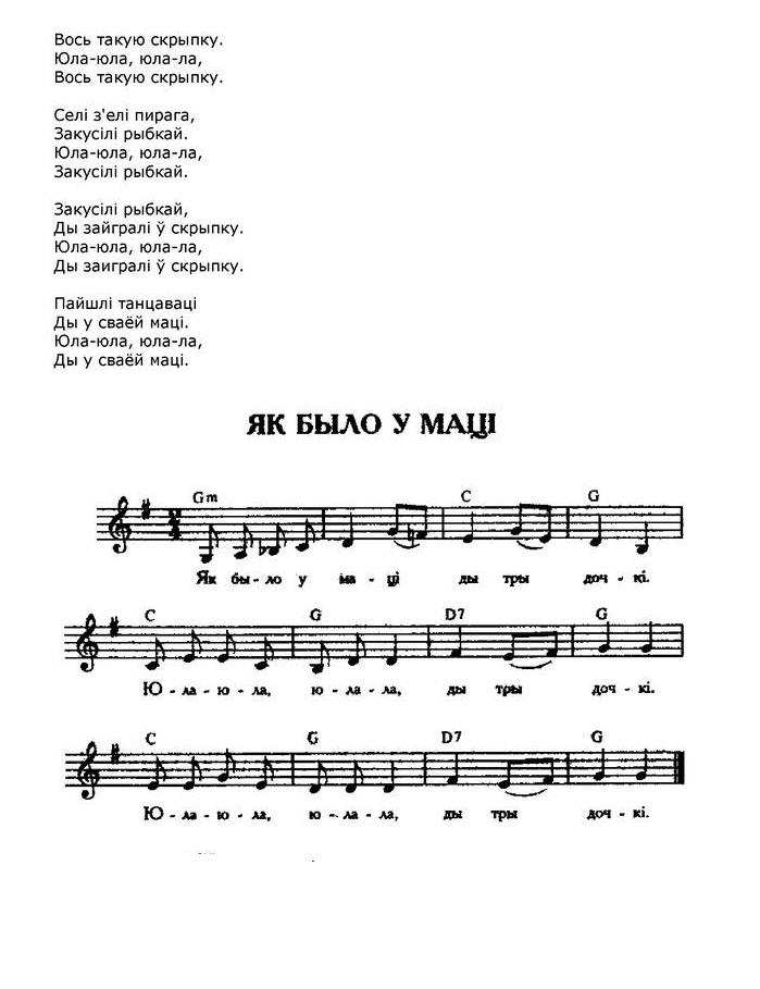 ноты для белорусских песен24