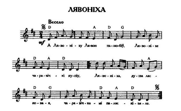ноты для белорусских песен39