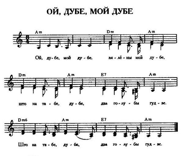 ноты для белорусских песен46