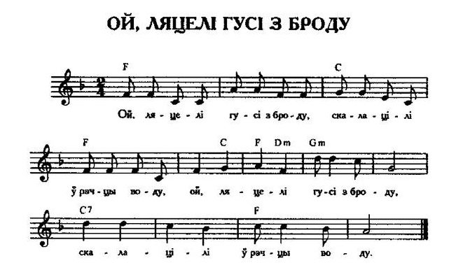 ноты для белорусских песен49