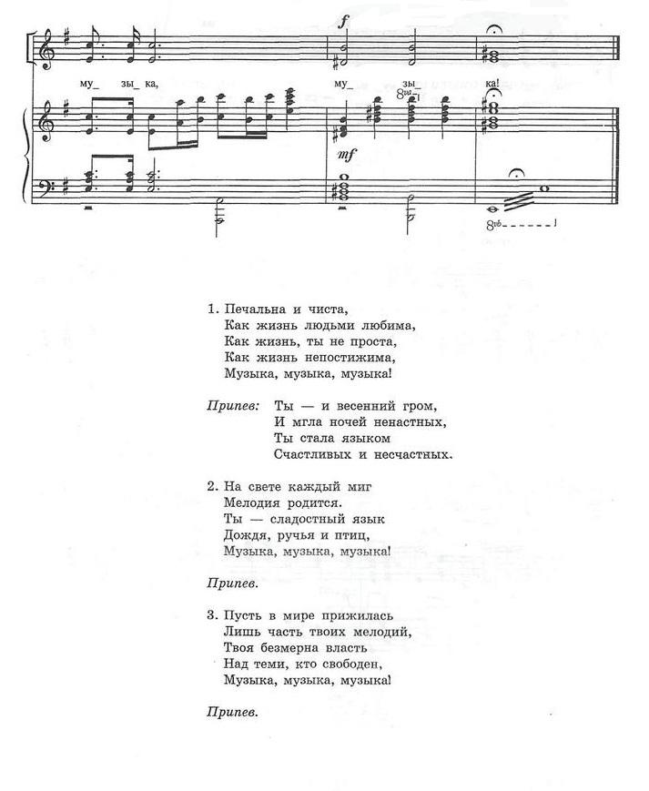 ноты для хора с сопровождением28.3
