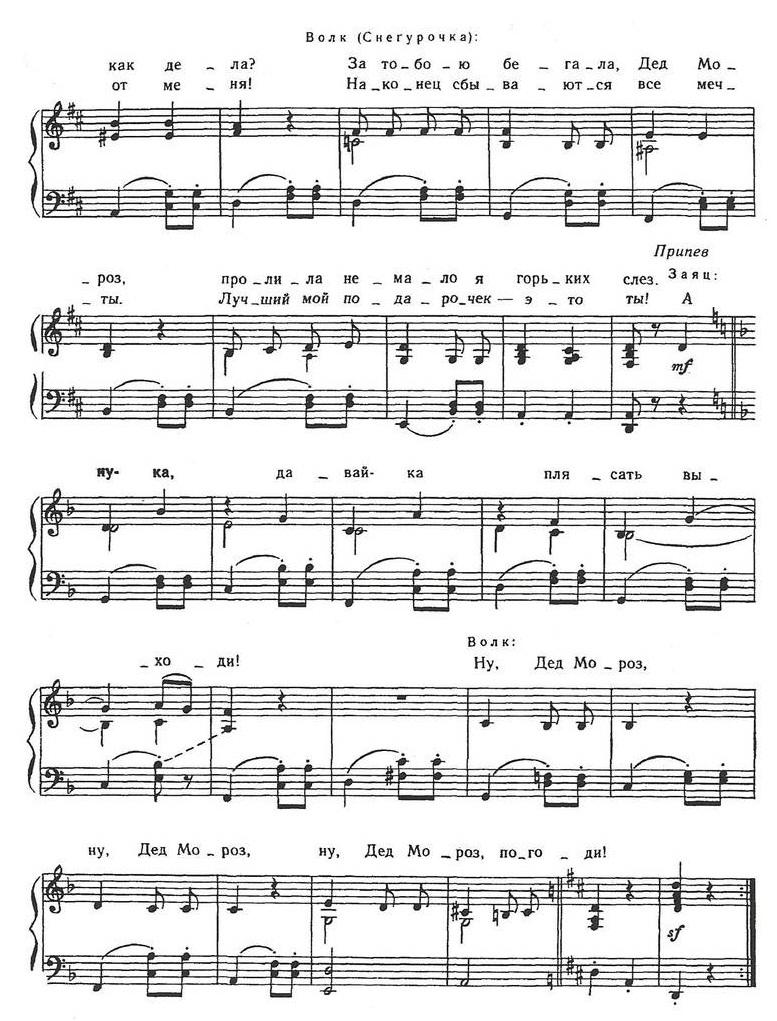 ноты новогодних песен14.2