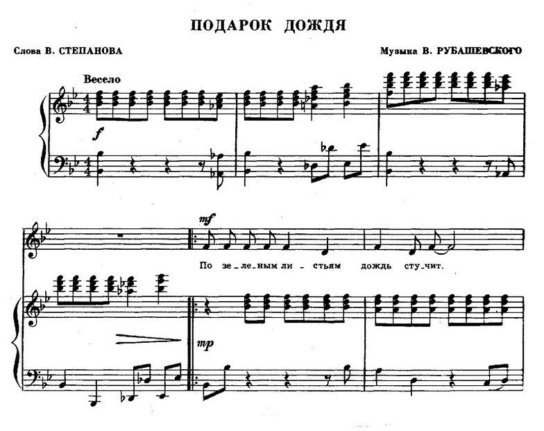 песни для детей в сопровождении фортепиано31