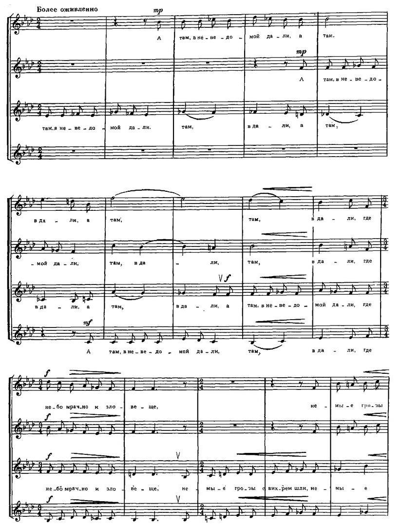 Репертуар  юношеских хоров14