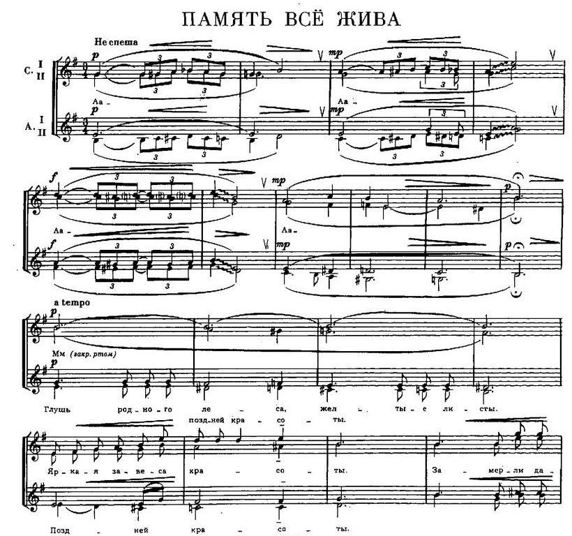 Репертуар  юношеских хоров19
