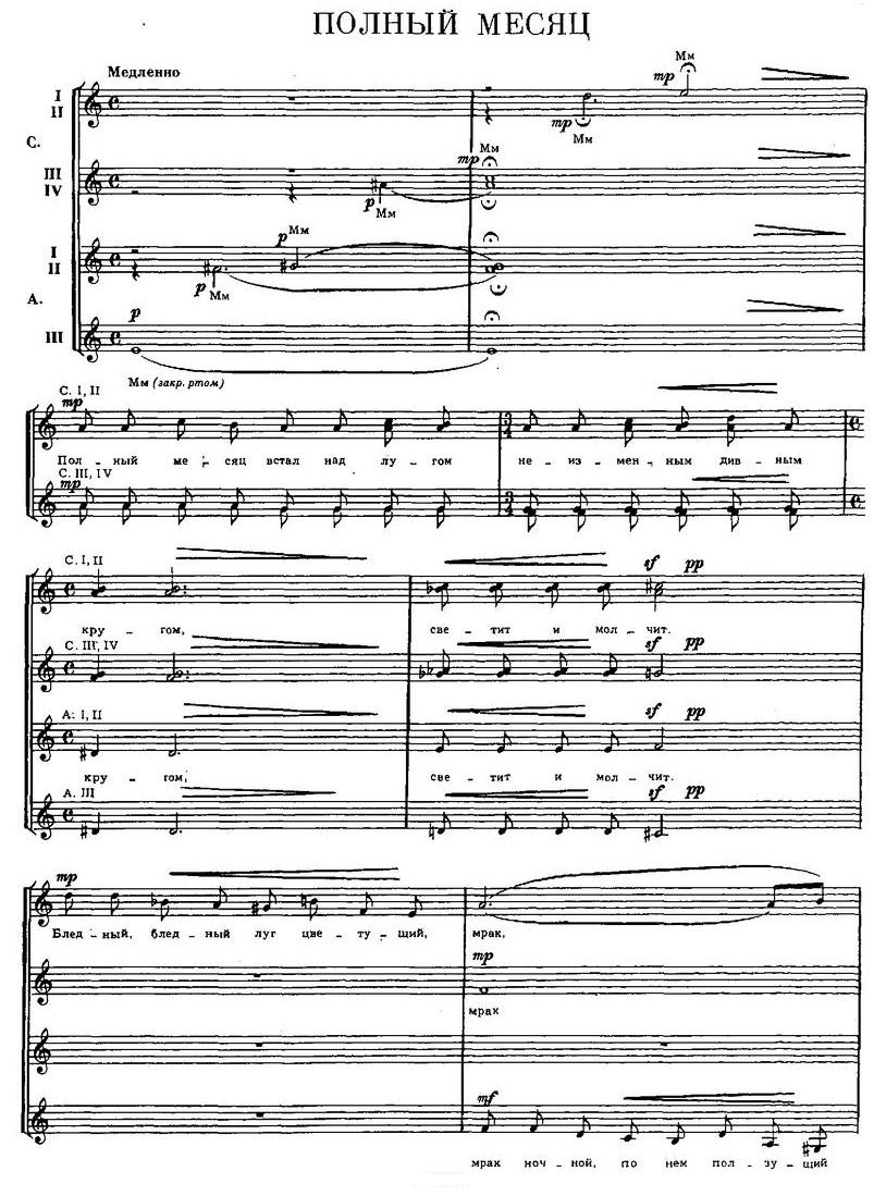 Репертуар  юношеских хоров21