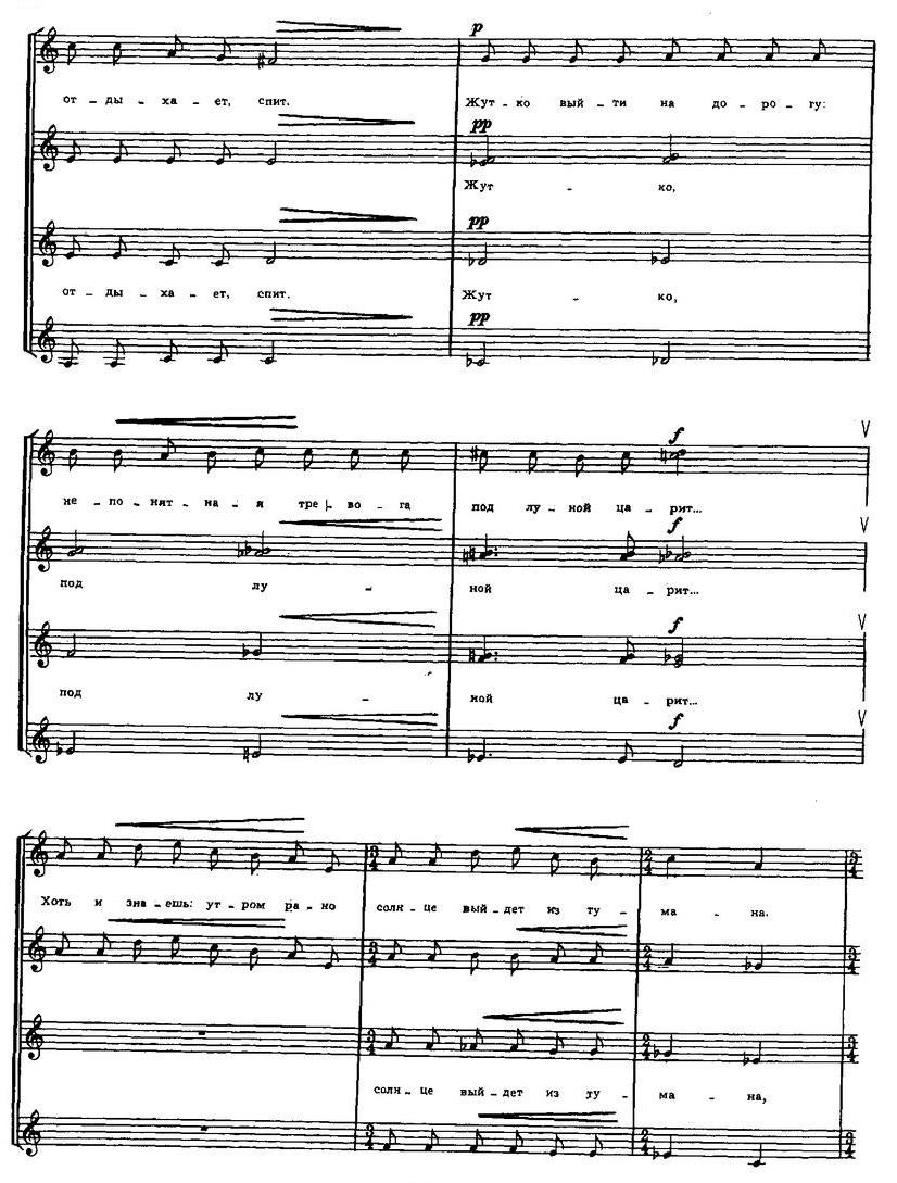 Репертуар  юношеских хоров22