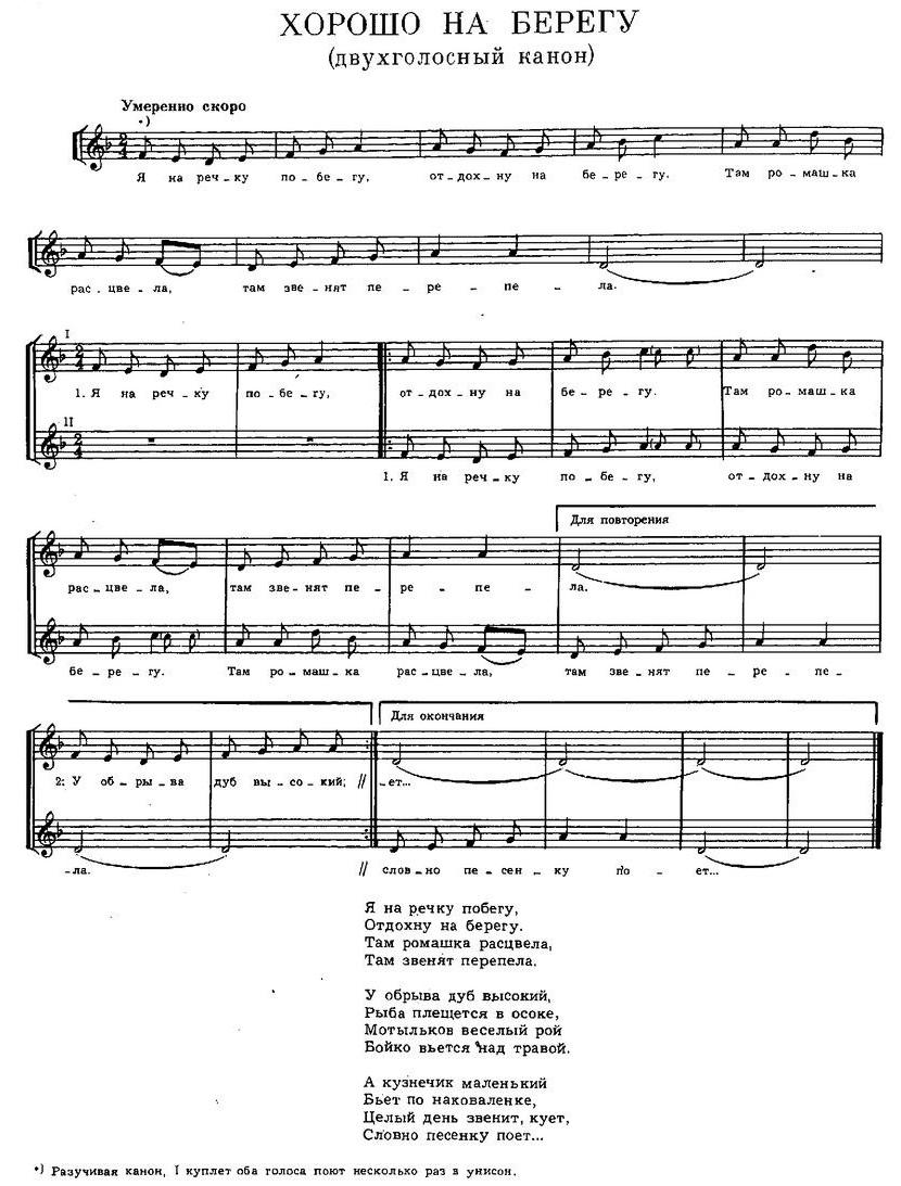 Репертуар  юношеских хоров28