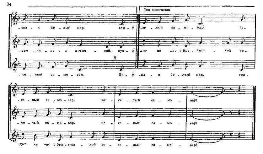 Репертуар  юношеских хоров34.0