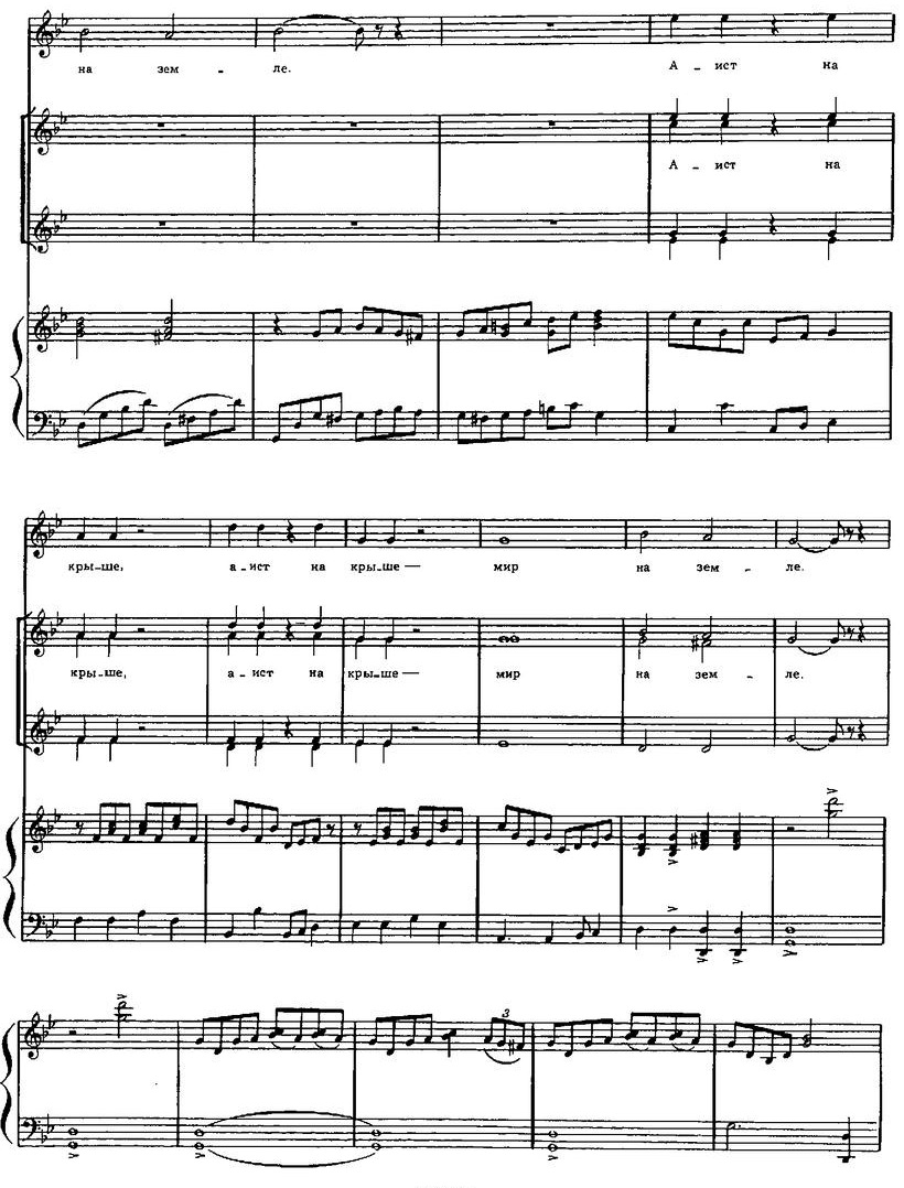 Репертуар  юношеских хоров54