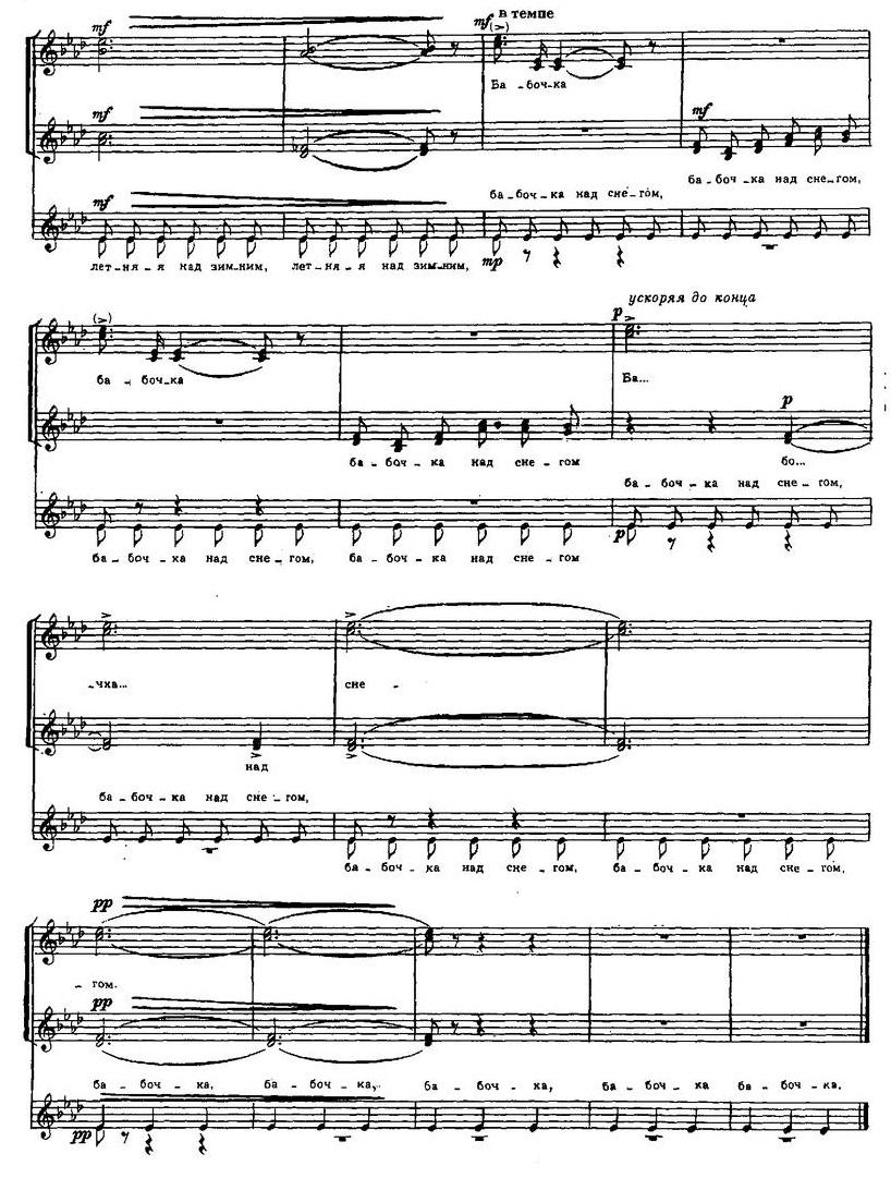 Репертуар  юношеских хоров8